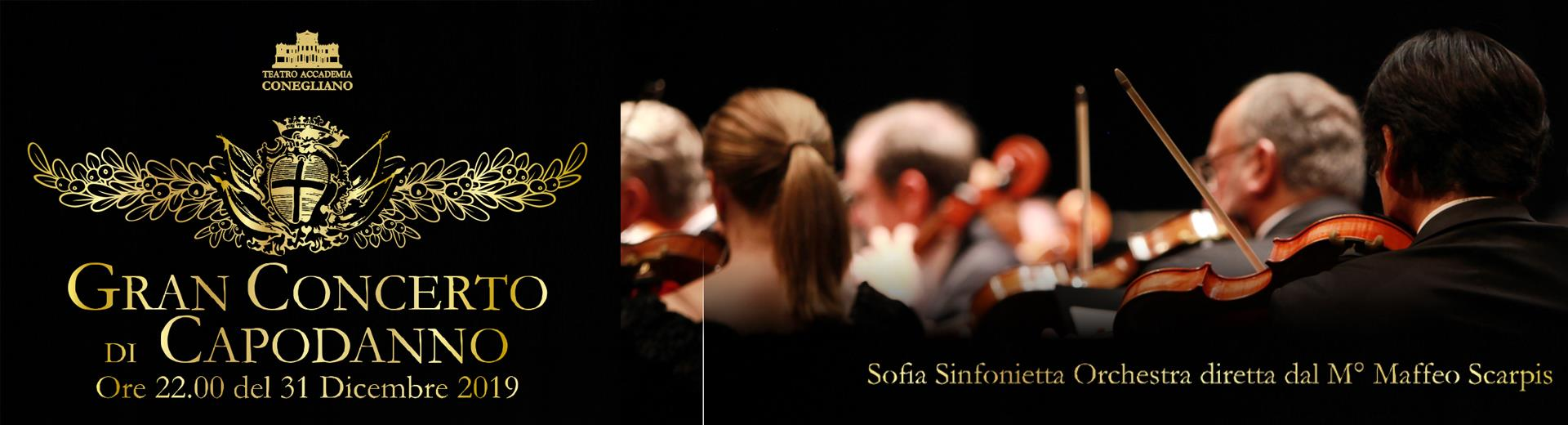 Sofia Sinfonietta Orchestra conducted by M° Maffeo Scarpis  December 31st 2019 - h 22:00